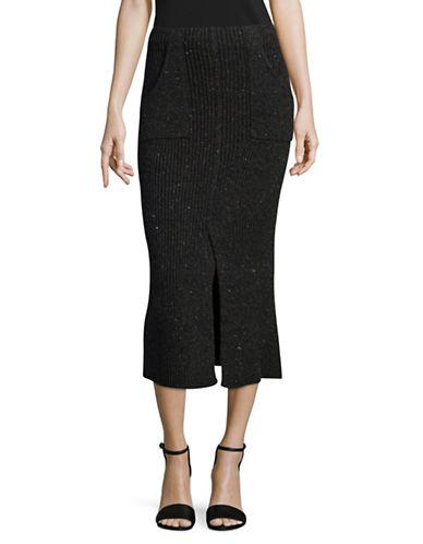 Tomorrowland Nep Wool-cashmere Tweed Tight Skirt-grey