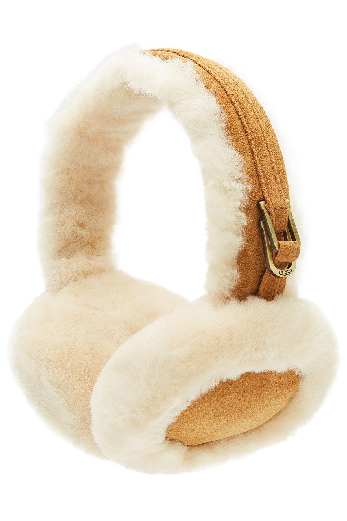 Ugg Classic Shearling Earmuffs In Brown