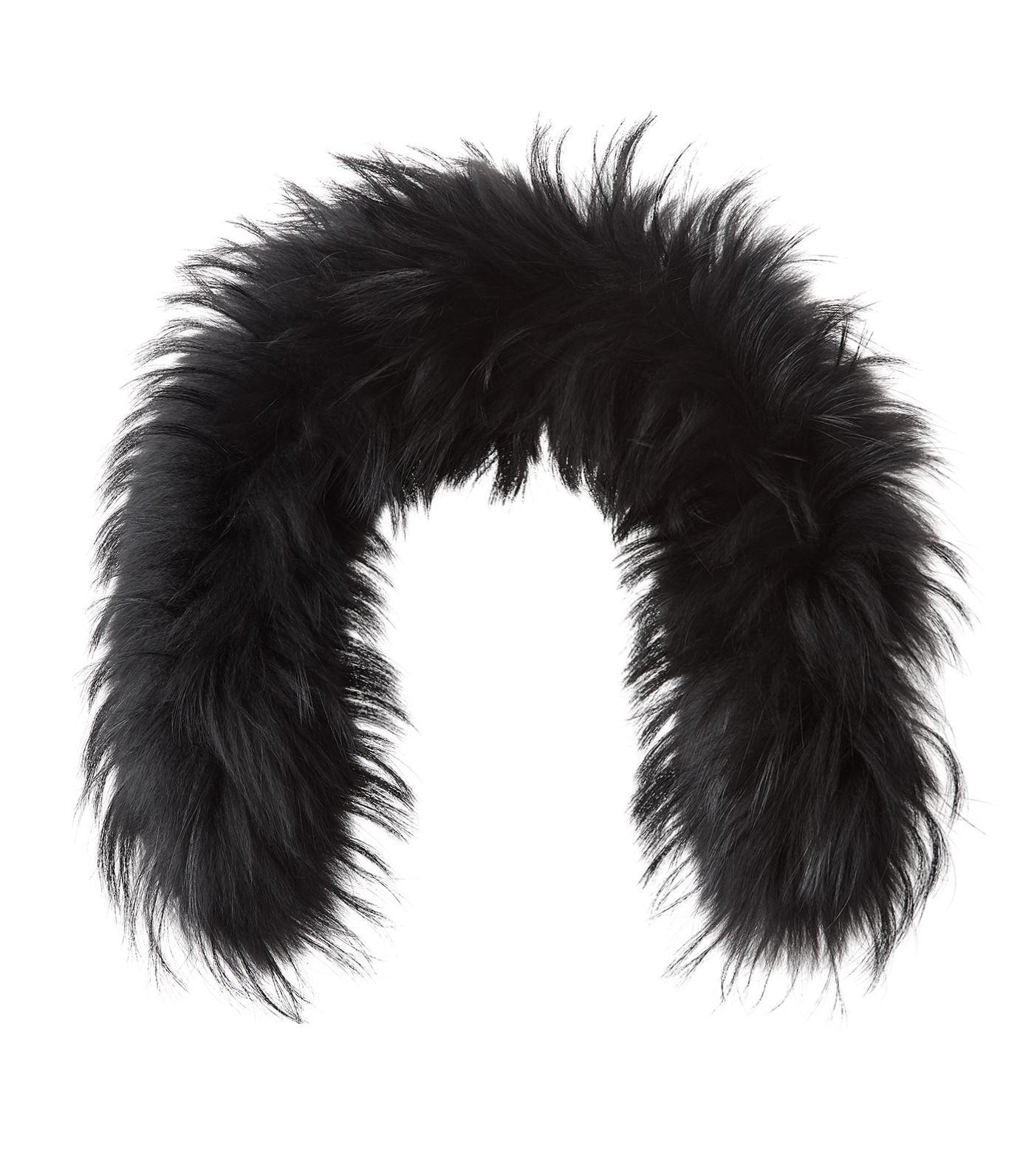 Bogner Racoon Fur Collar In Beige