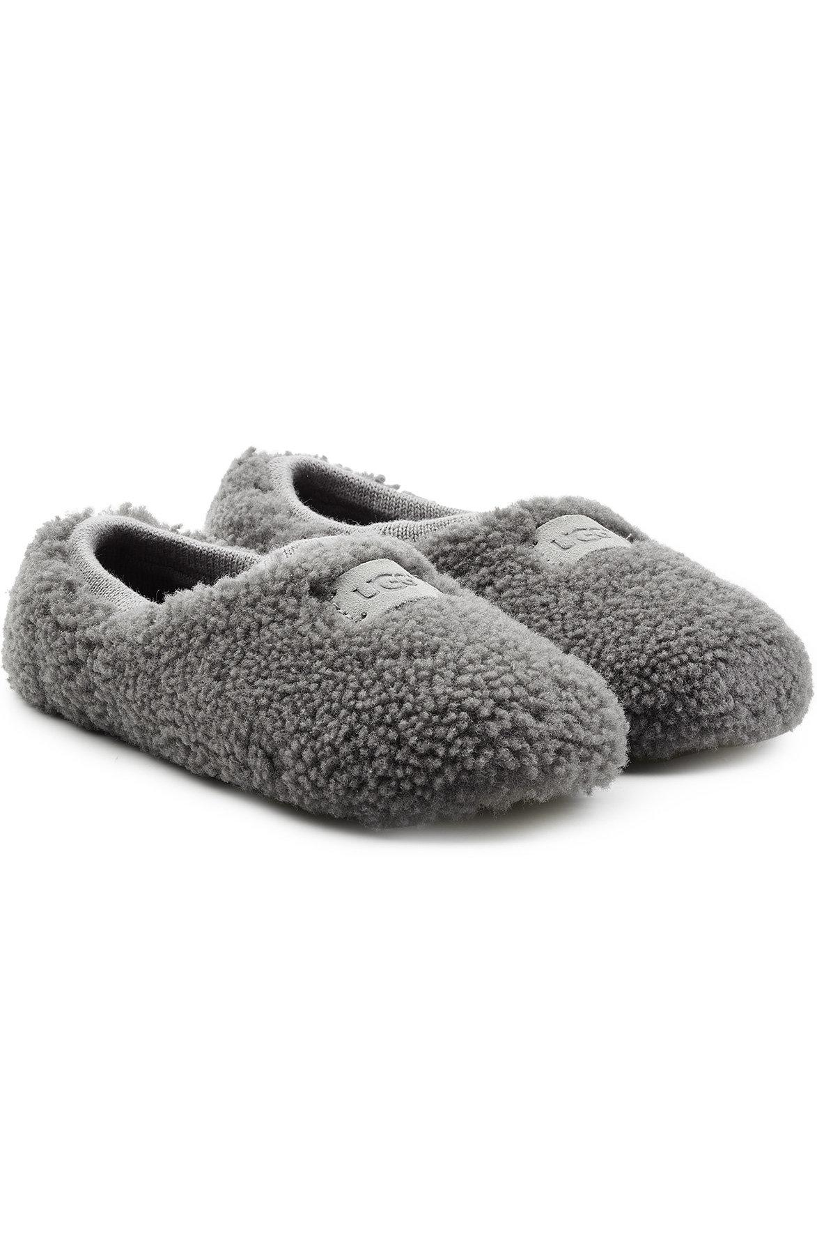 Ugg Birche Sheepskin Slippers In Grey