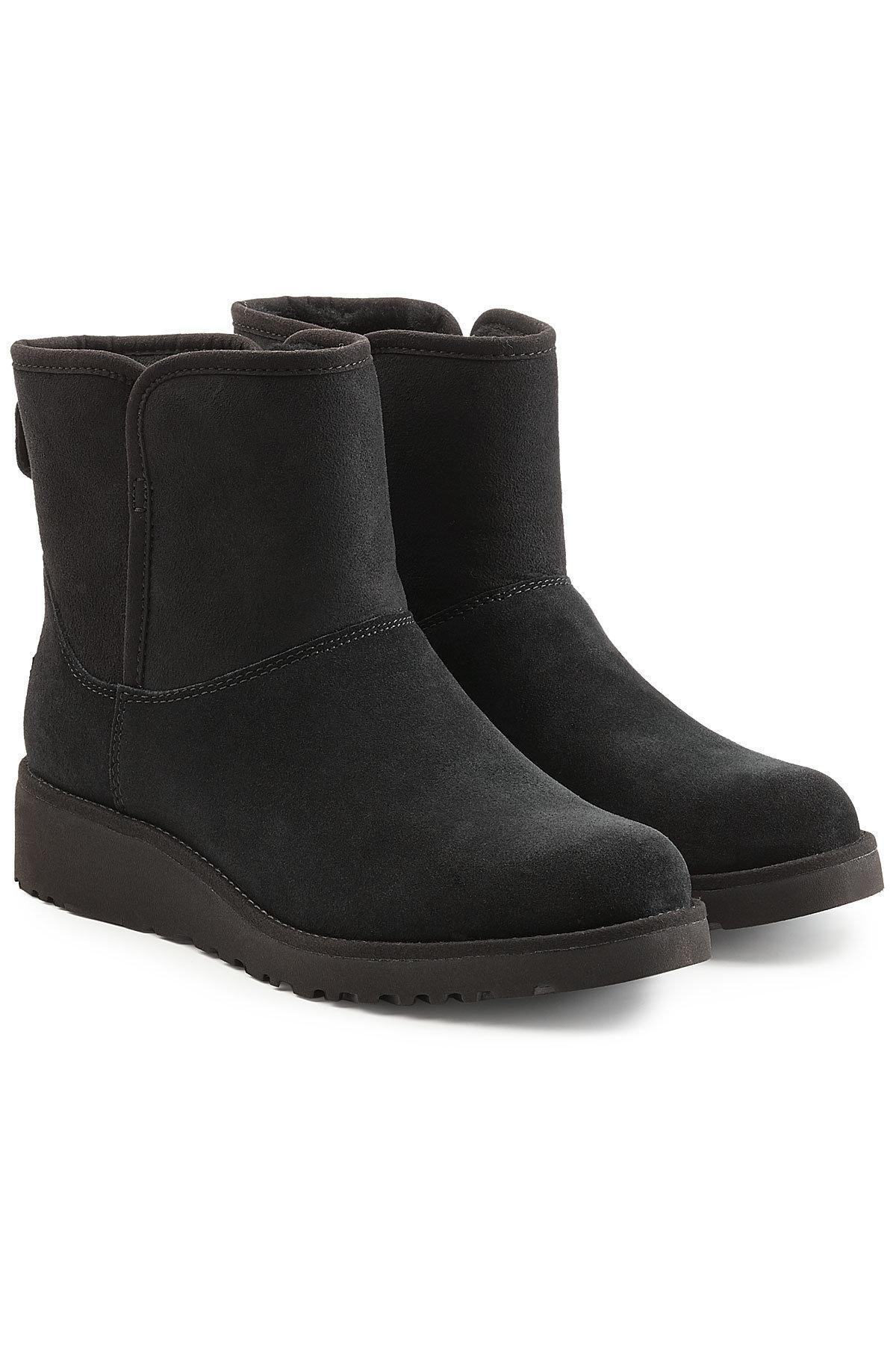 Ugg Kristin Classic Slim Suede Boots In Black