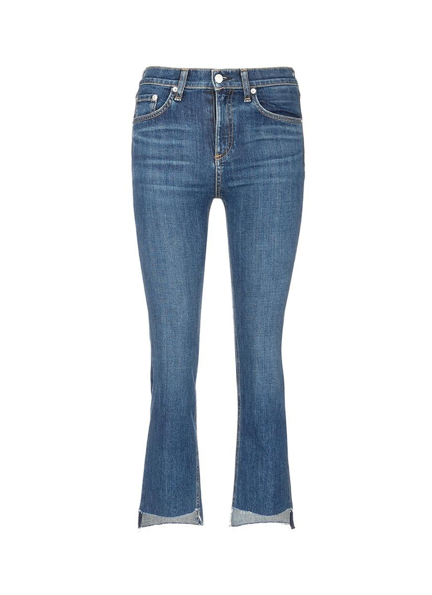 Rag & Bone '10 Inch Stovepipe' Wide Leg Jeans