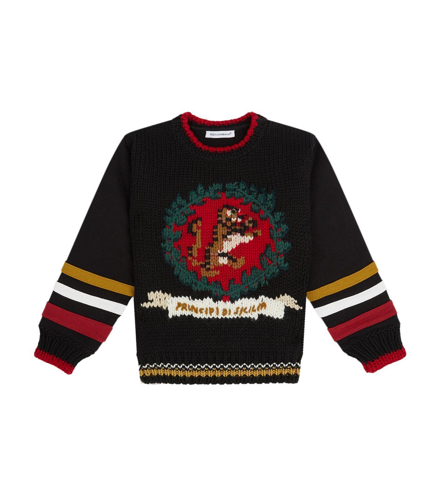 Dolce & Gabbana Knit Front Sweater In Multi