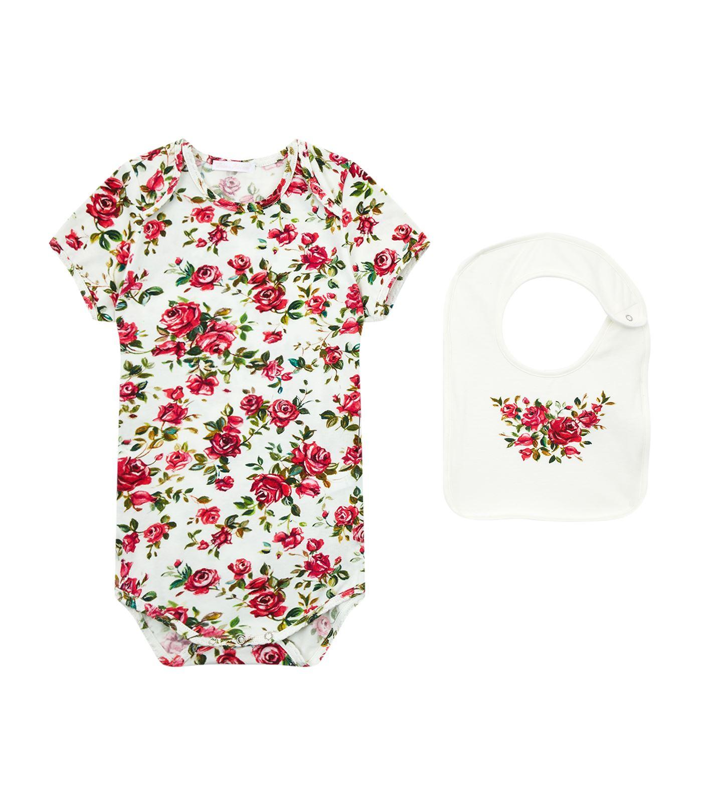 Dolce & Gabbana Rose Print Bodysuit Gift Set In Multi