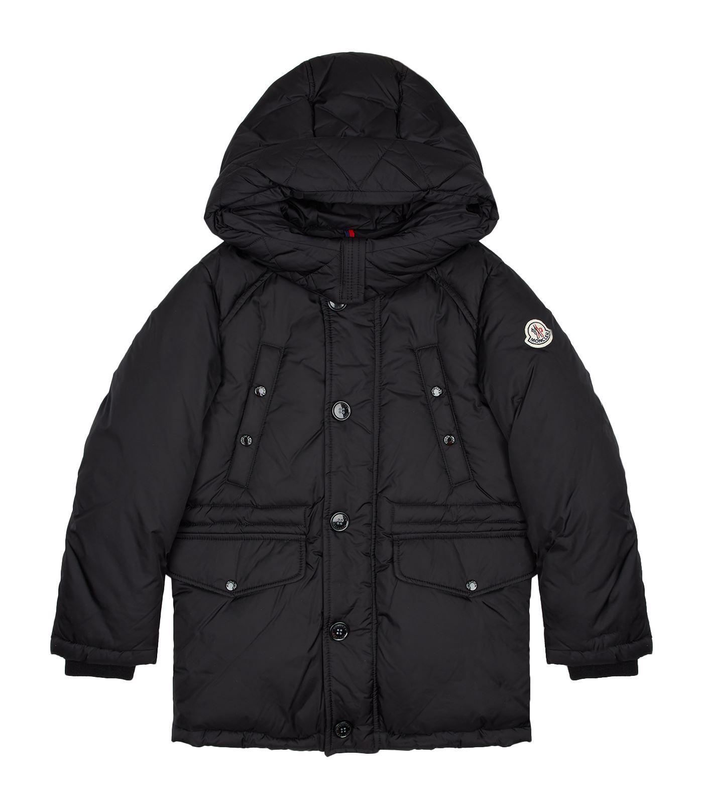 Moncler Dirk Hooded Down Parka Coat In Black
