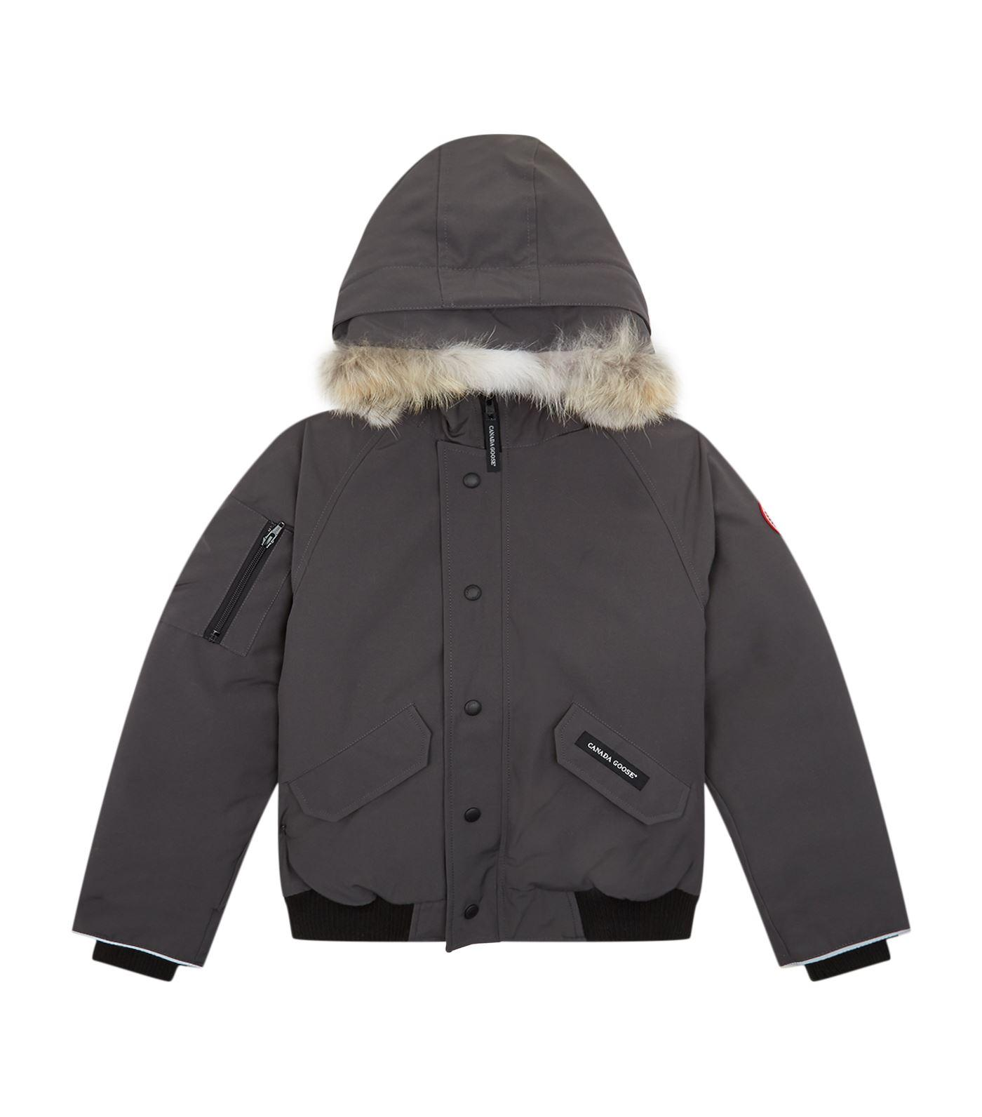 Canada Goose Rundle Hooded Bomber In Grey