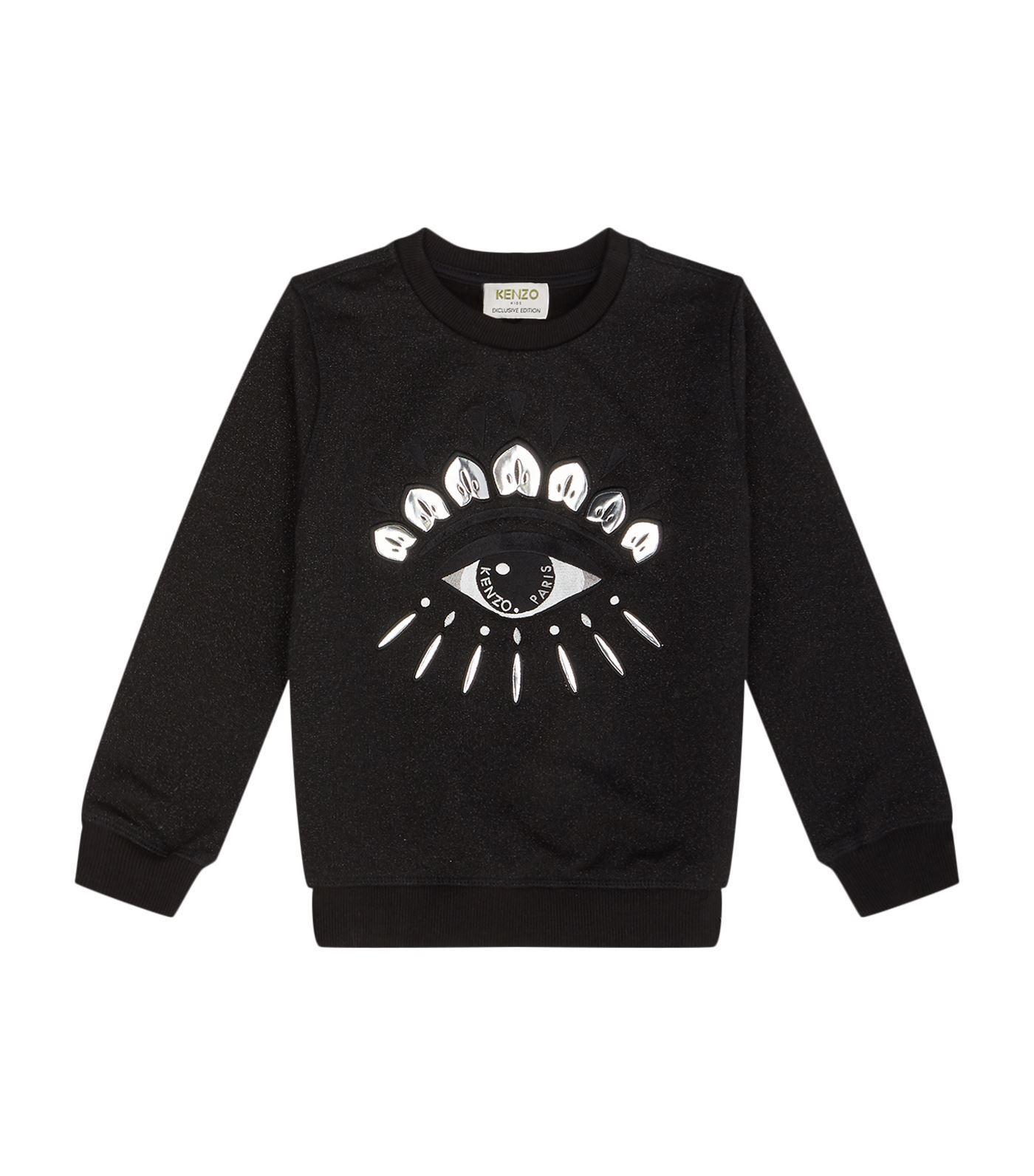 Kenzo Lurex Eye Motif Sweater In Black