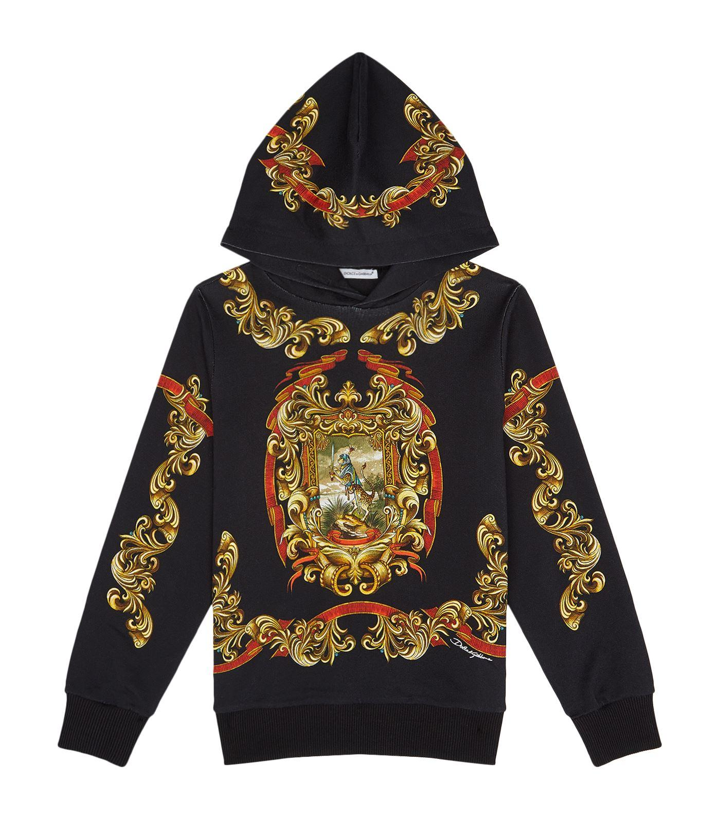 Dolce & Gabbana Coat Of Arms Hoodie In Multi
