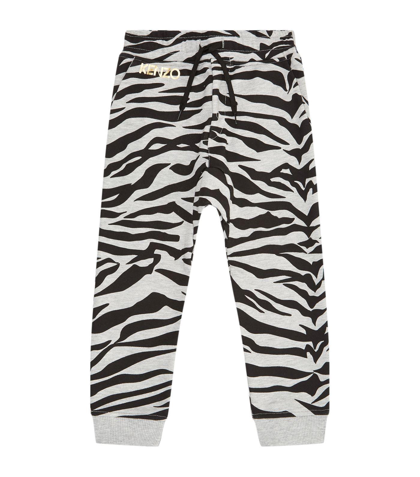 Kenzo Tiger Print Sweatpants In Grey
