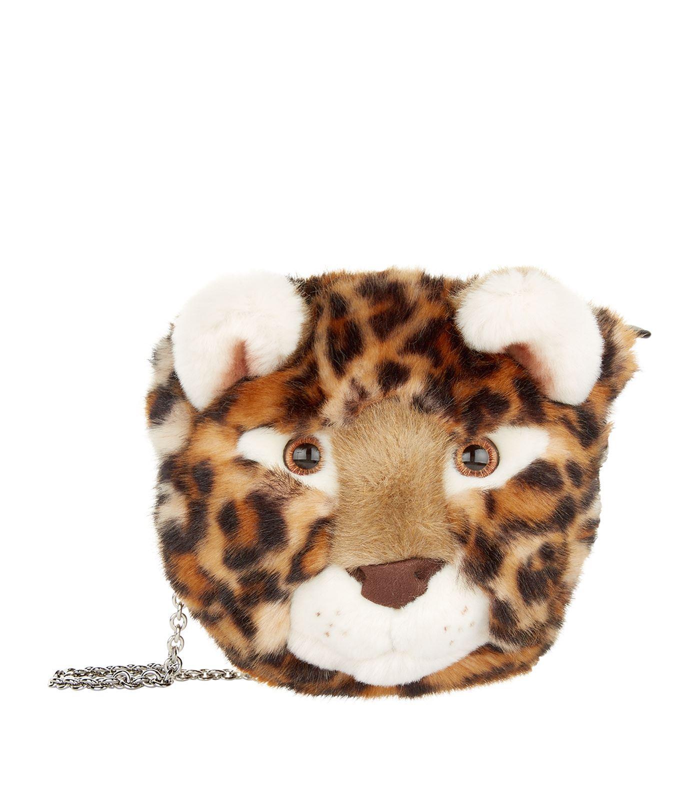 Dolce & Gabbana Faux Fur Leopard Bag In Multi