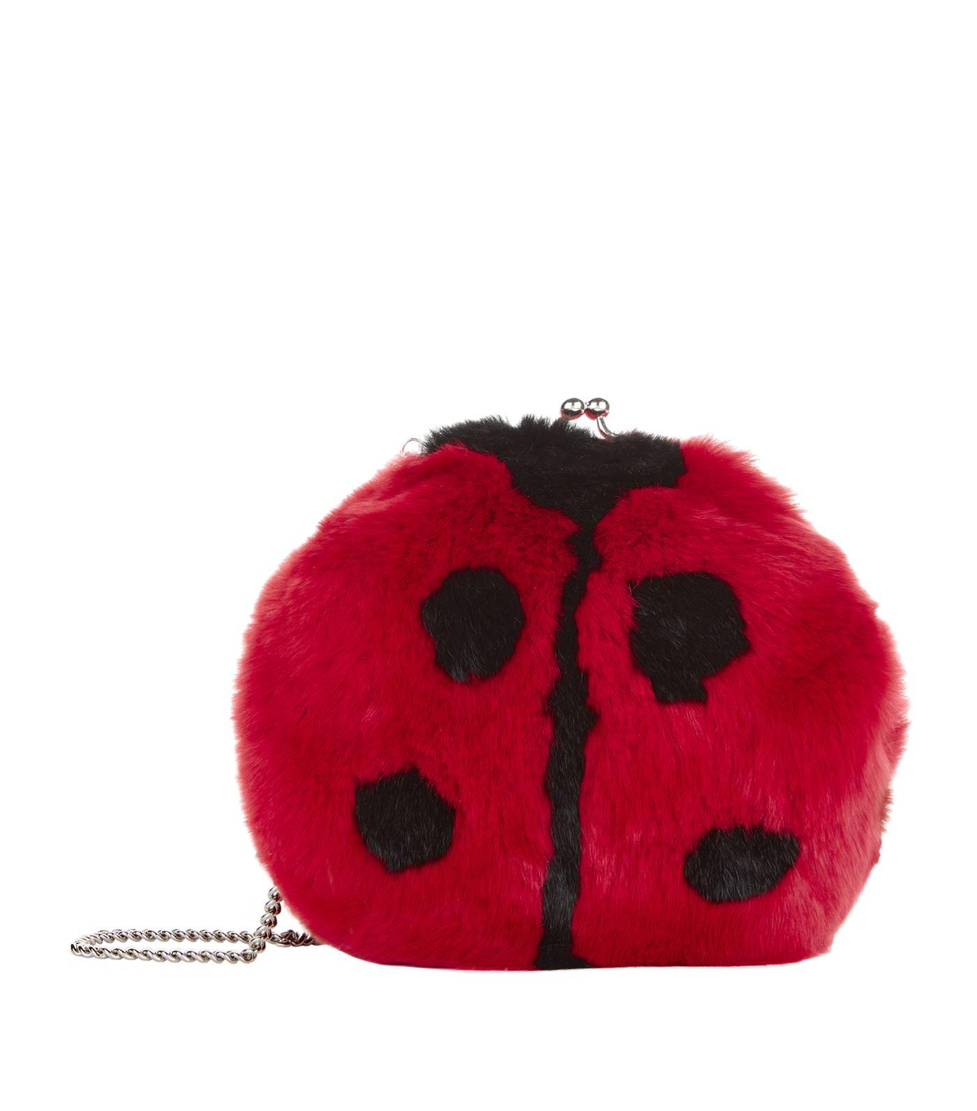 Dolce & Gabbana Ladybird Shoulder Bag In Multi