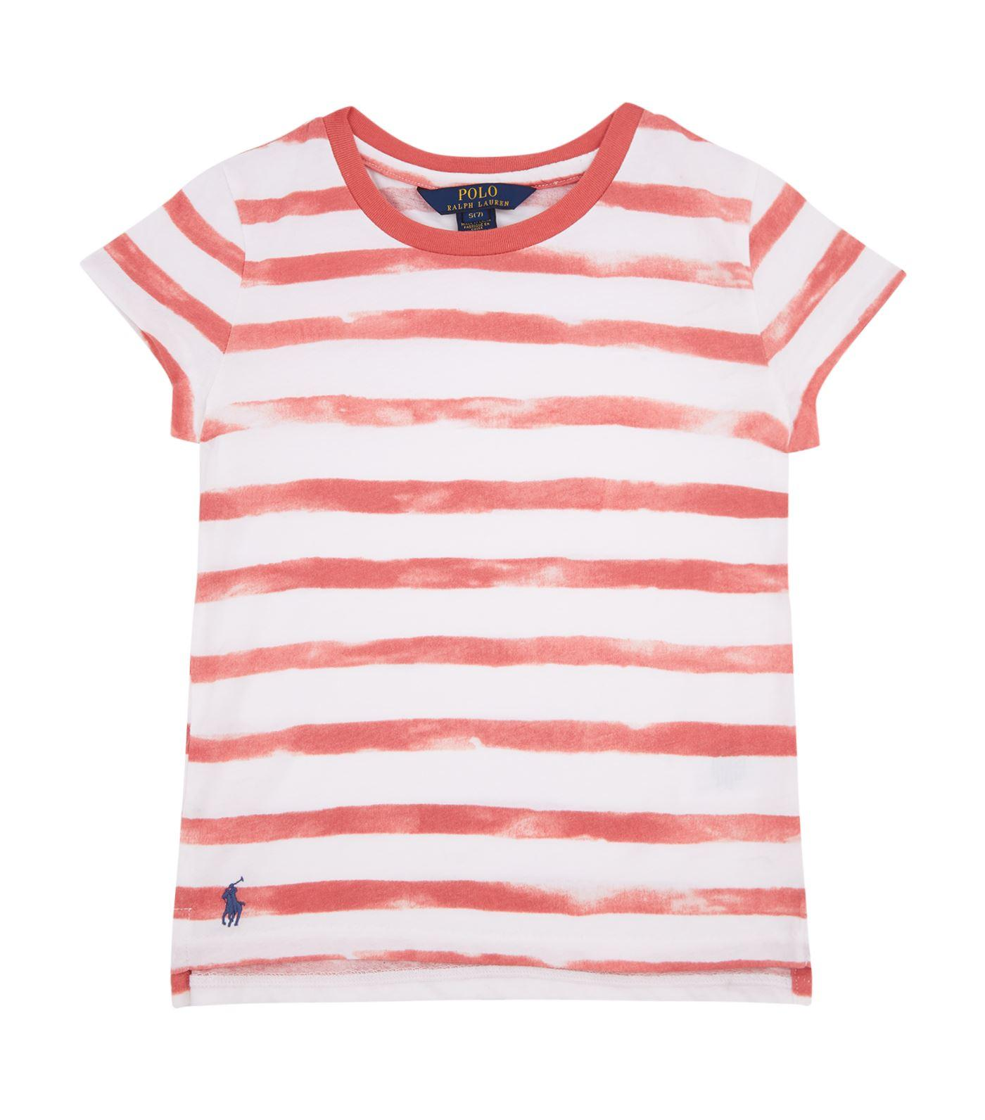 Ralph Lauren Washed Stripe T-shirt In Red