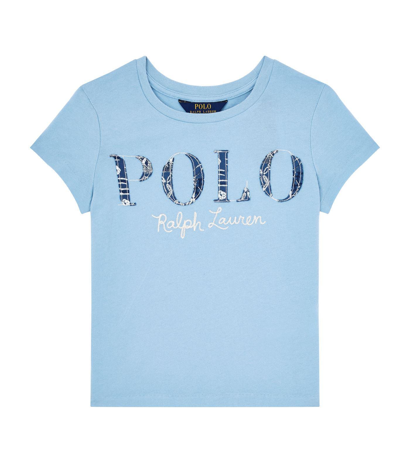 Ralph Lauren Paisley Print Logo T-shirt In Blue