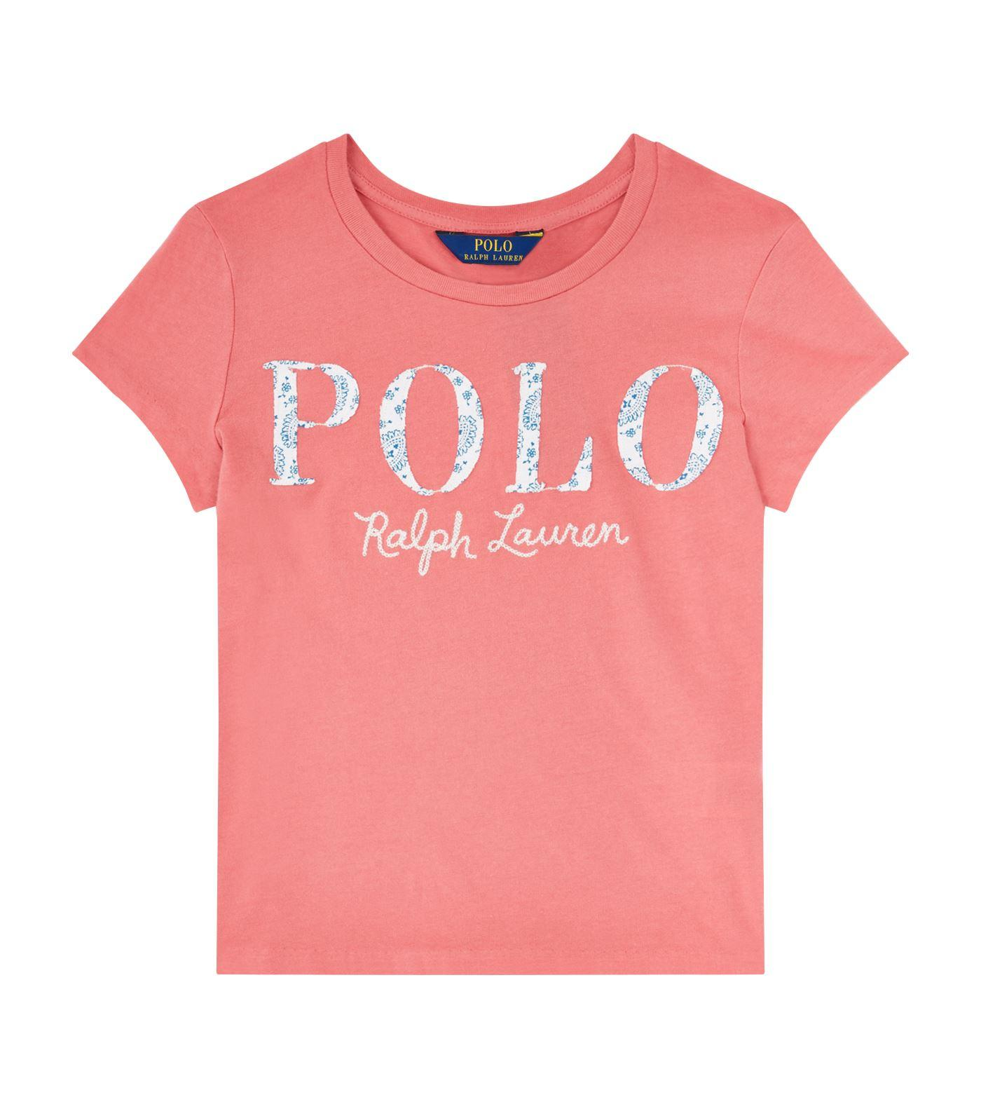 Ralph Lauren Paisley Print Logo T-shirt In Red