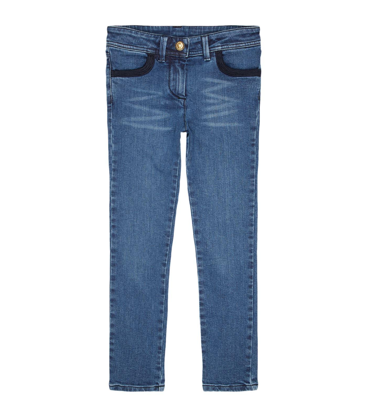 Moncler Cotton-stretch Jeans In Blue