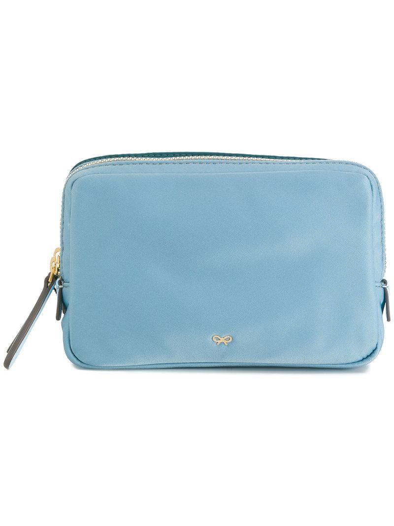 Anya Hindmarch Stack Double Make Up Pouch In Blue