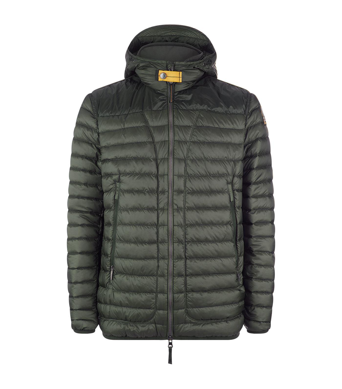 Parajumpers Quilted Jacket With Hood In Turquoise