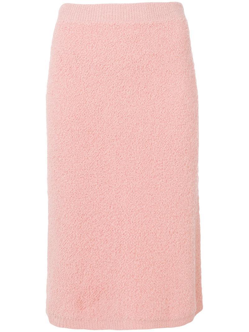 Prada Knitted Midi Skirt
