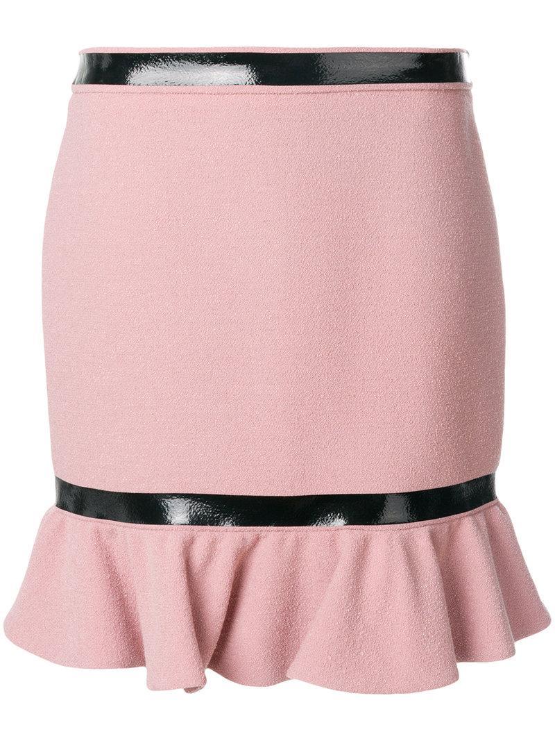 Moschino Frill Hem Mini Skirt