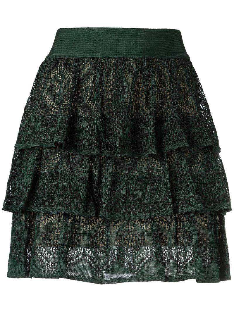 Cecilia Prado Knit Ruffled Skirt