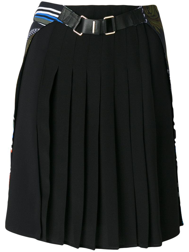 Versace Pleated Cityscape Skirt