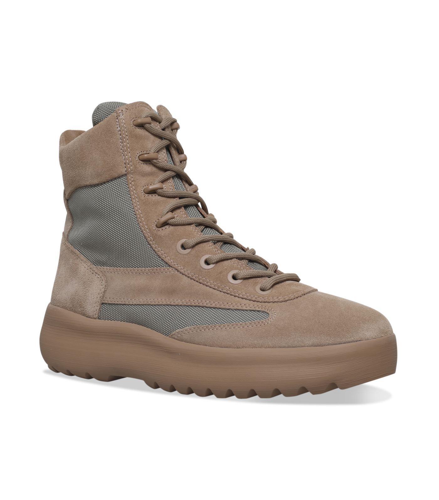 Yeezy Suede Military Boot In Beige