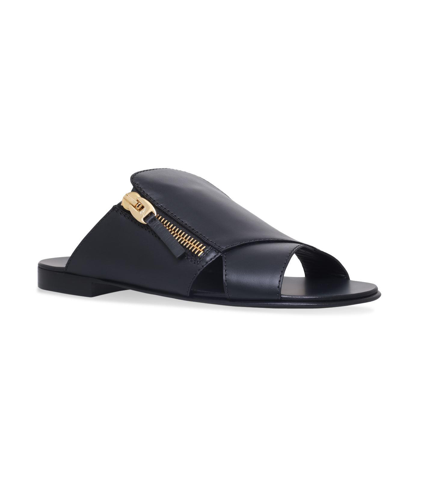 Giuseppe Zanotti Zip Trim Sandals In Black