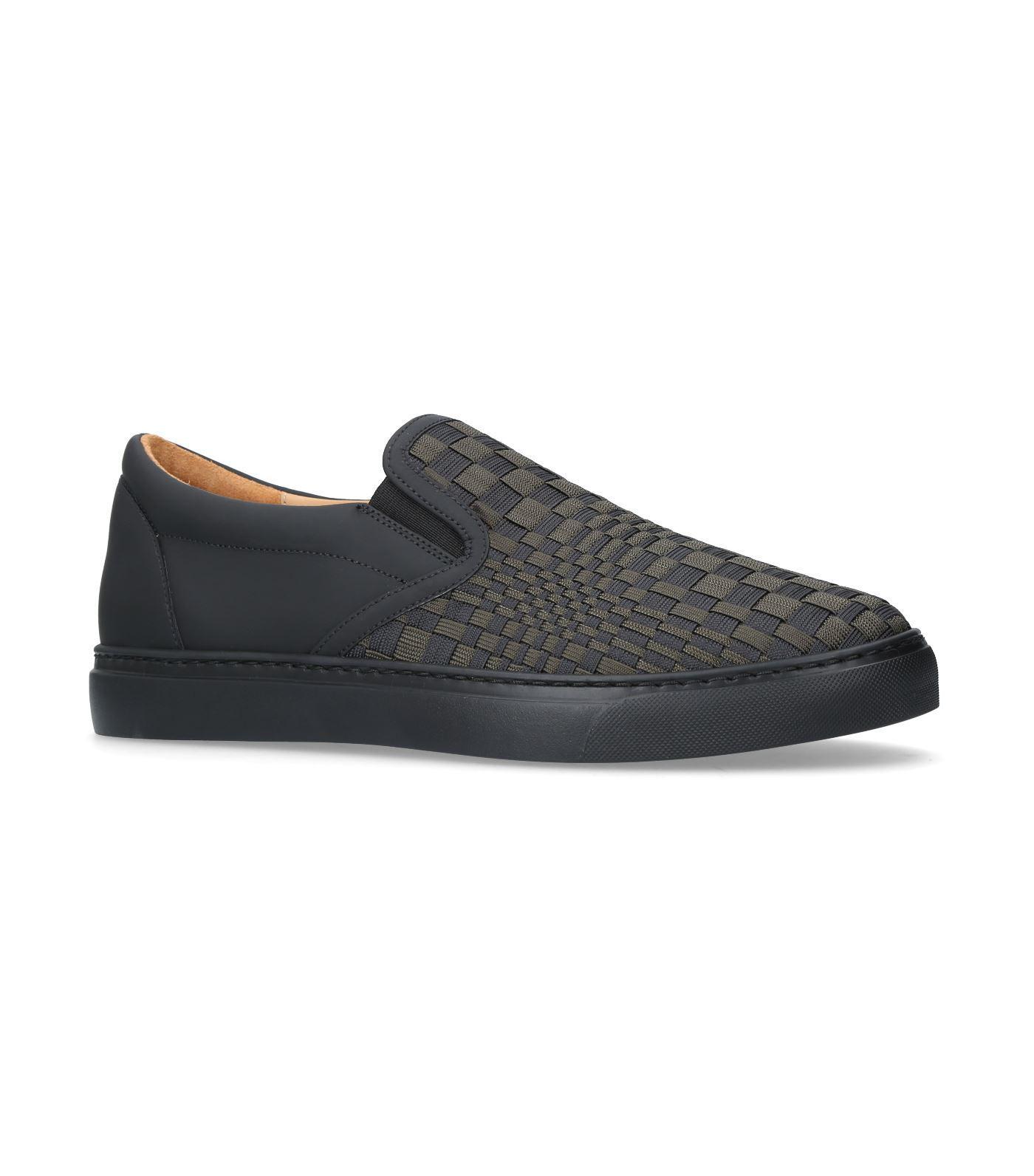 Harrys Of London Optic Woven Ethan Jones Sneakers In Green