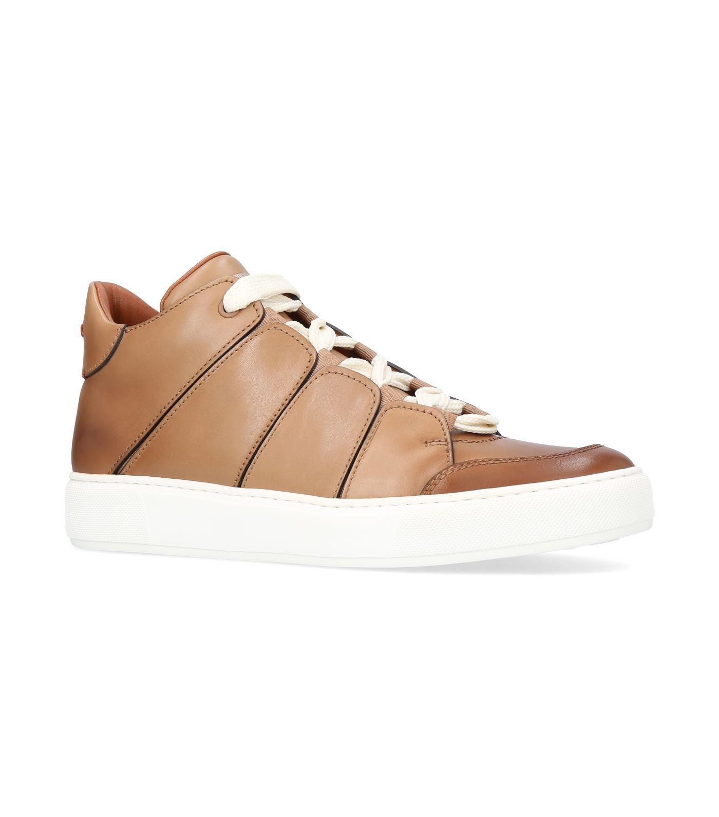 Ermenegildo Zegna Tiziano Mid-top Sneakers In Beige