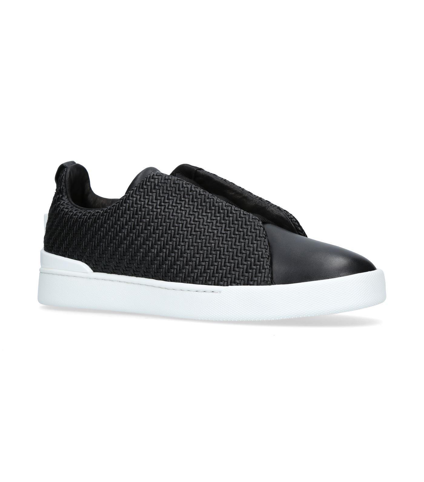 Ermenegildo Zegna Couture 3x Skater Shoes In Black