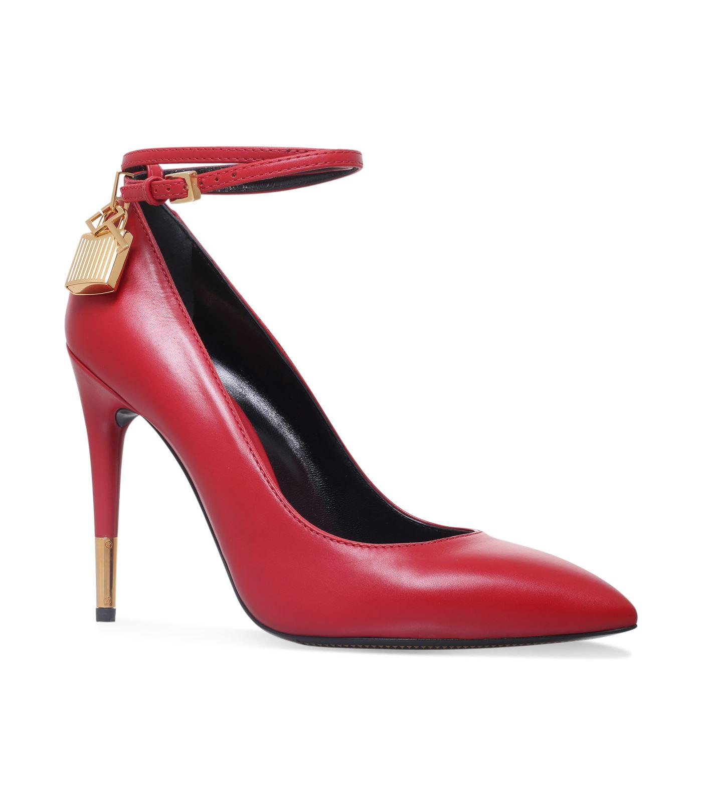 Tom Ford Padlock Pumps 105 In Red