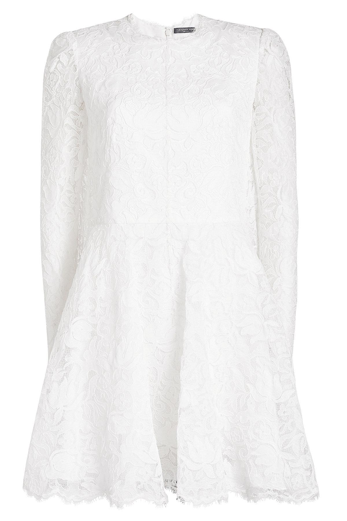 Alexander Mcqueen Lace Dress In White