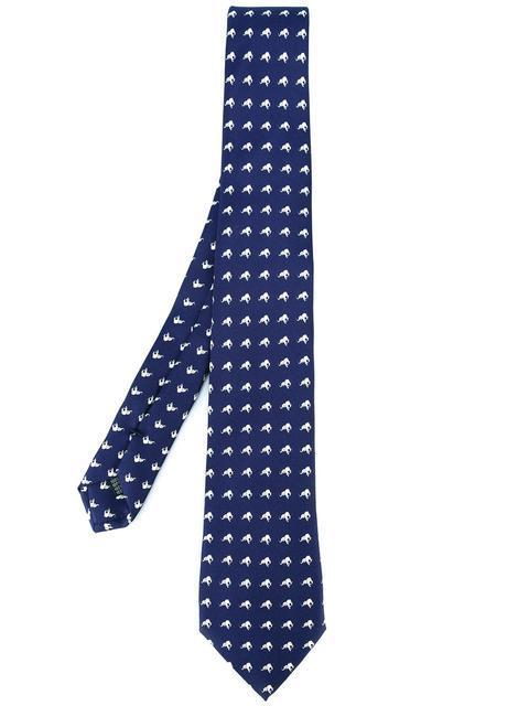 FefÈ Glamour Pochette FefÈ Elephants Pattern Tie - Blue