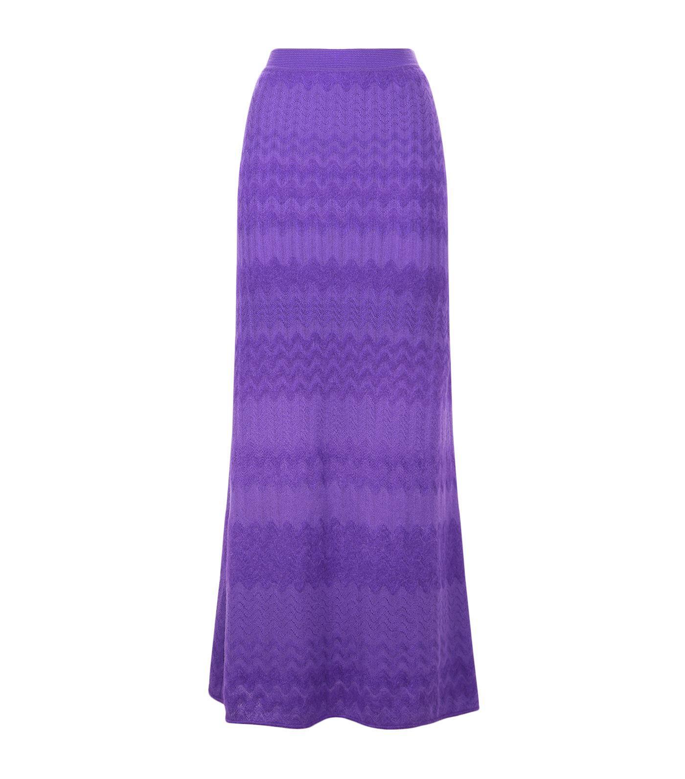 Missoni Zig Zag Skirt In Purple