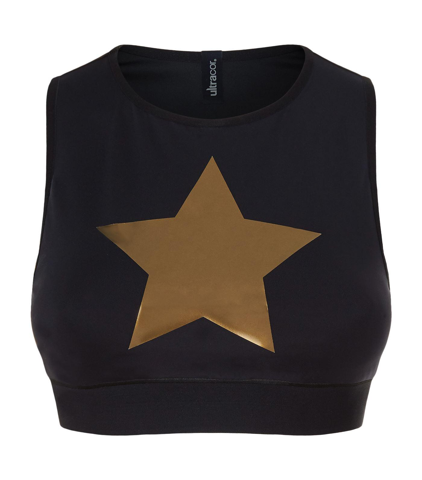 Ultracor Level Knockout Crop Top In Black