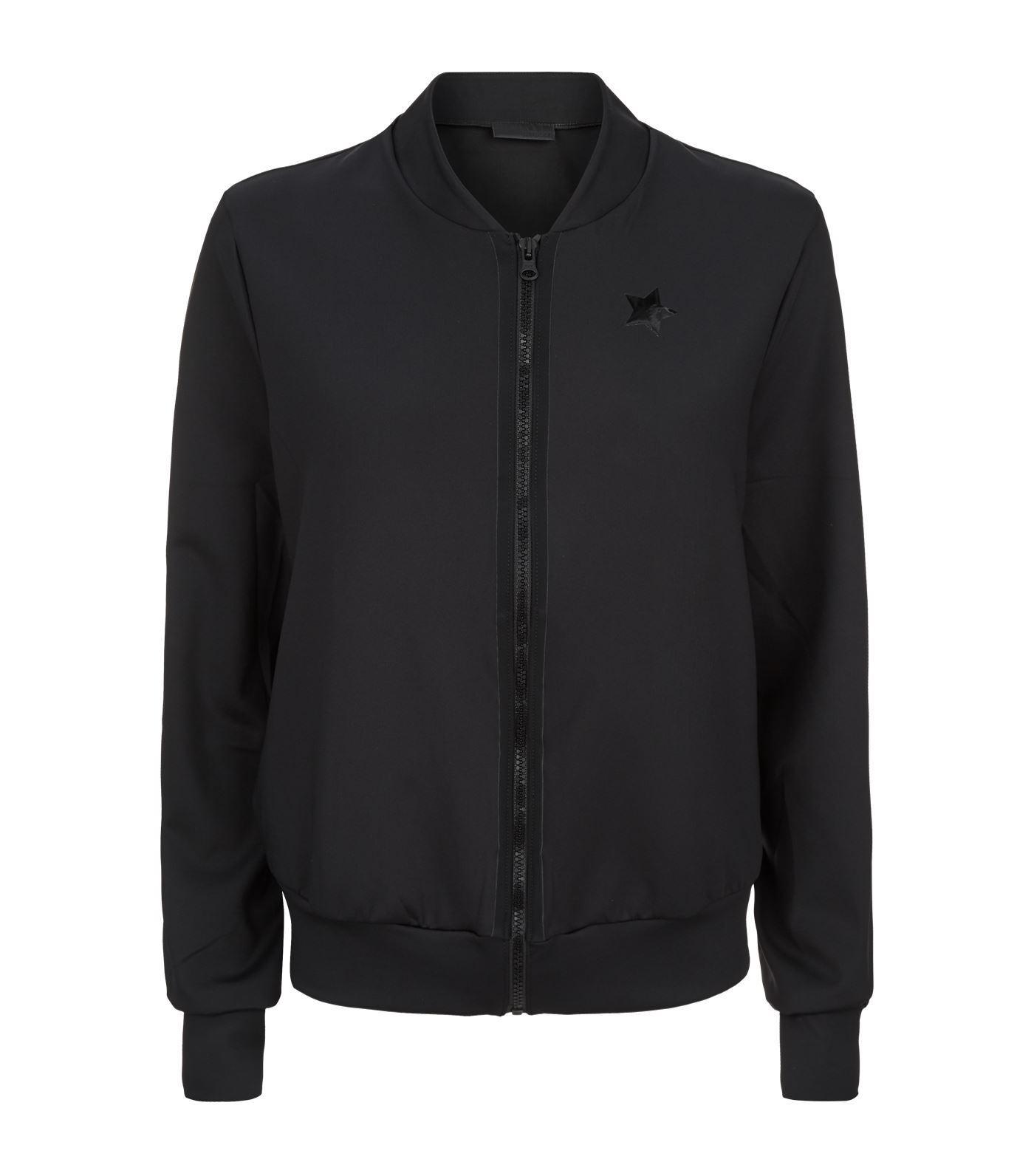 Ultracor Satin Bomber Jacket In Black