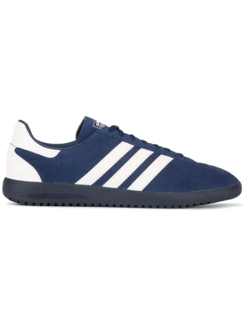 Adidas Originals Intack Spezial Faux Leather-trimmed Suede Sneakers In Blue