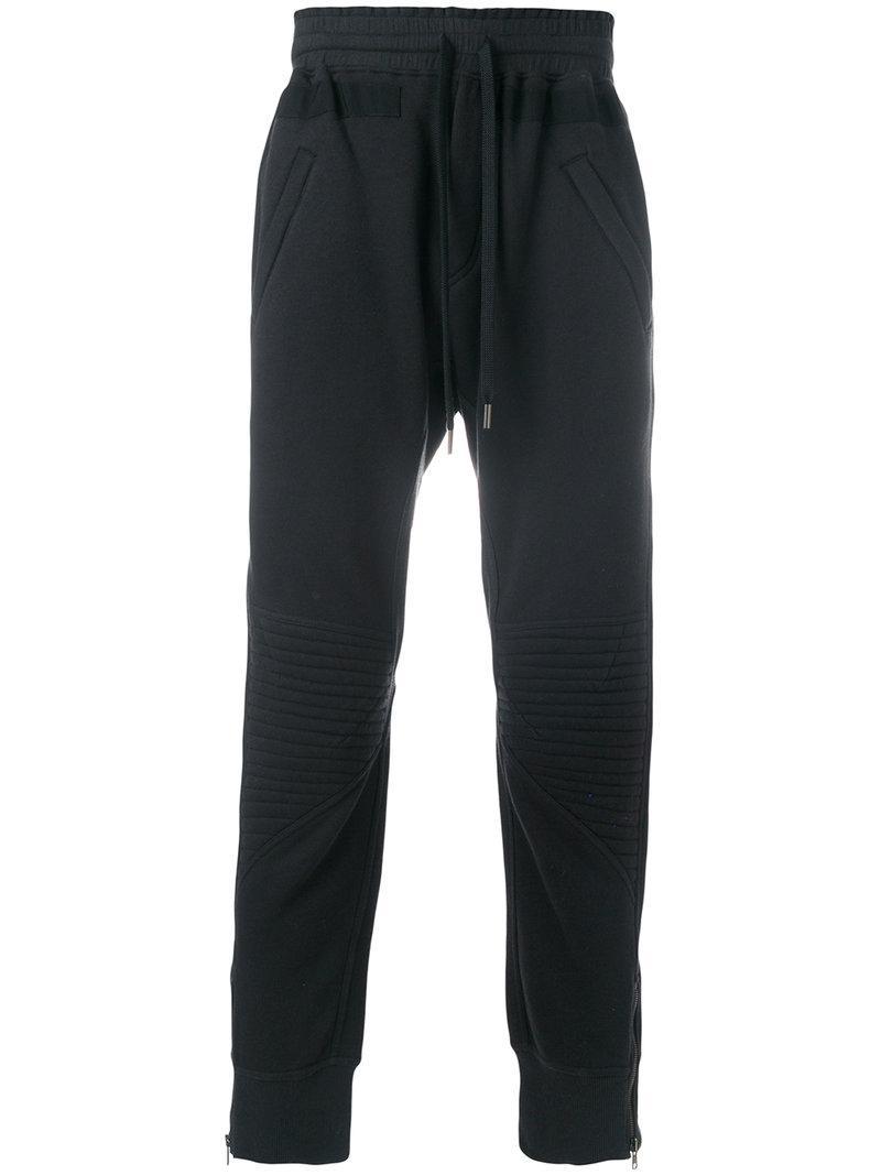 Amen Zip-detailed Biker Track Pants