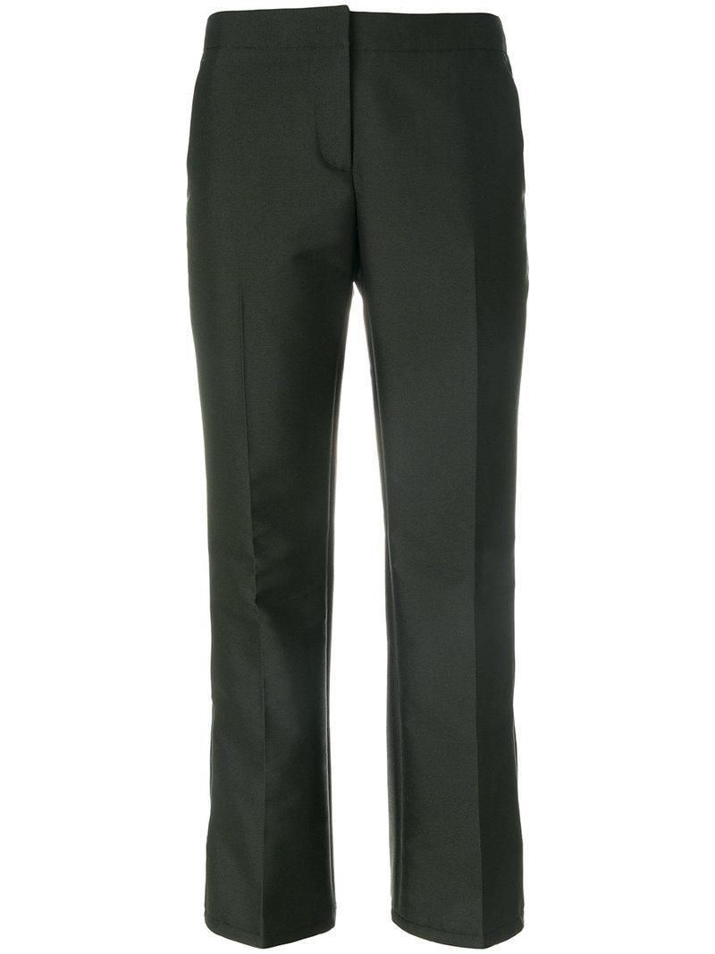 N°21 Brooch Detail Cropped Trousers