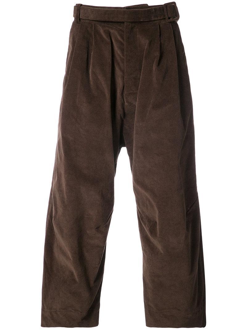 Osklen Wide Leg Cropped Trousers