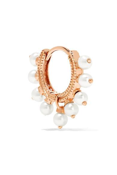 Maria Tash 18-karat Rose Gold Pearl Earring