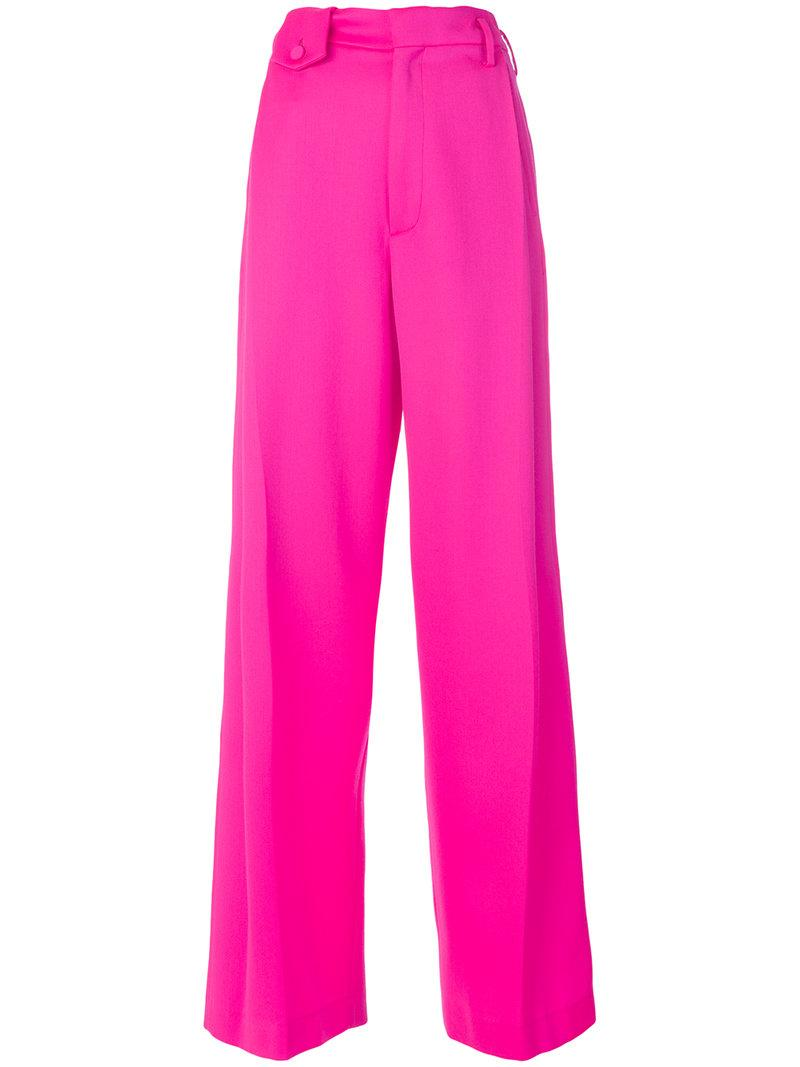 Golden Goose Wool And Mohair-blend Trousers In Pink