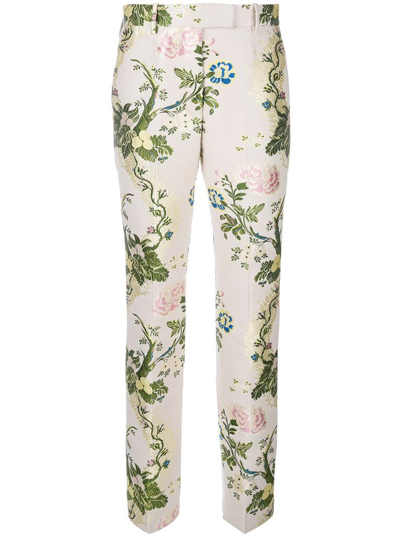 Calvin Klein 205w39nyc Floral Jacquard Trousers