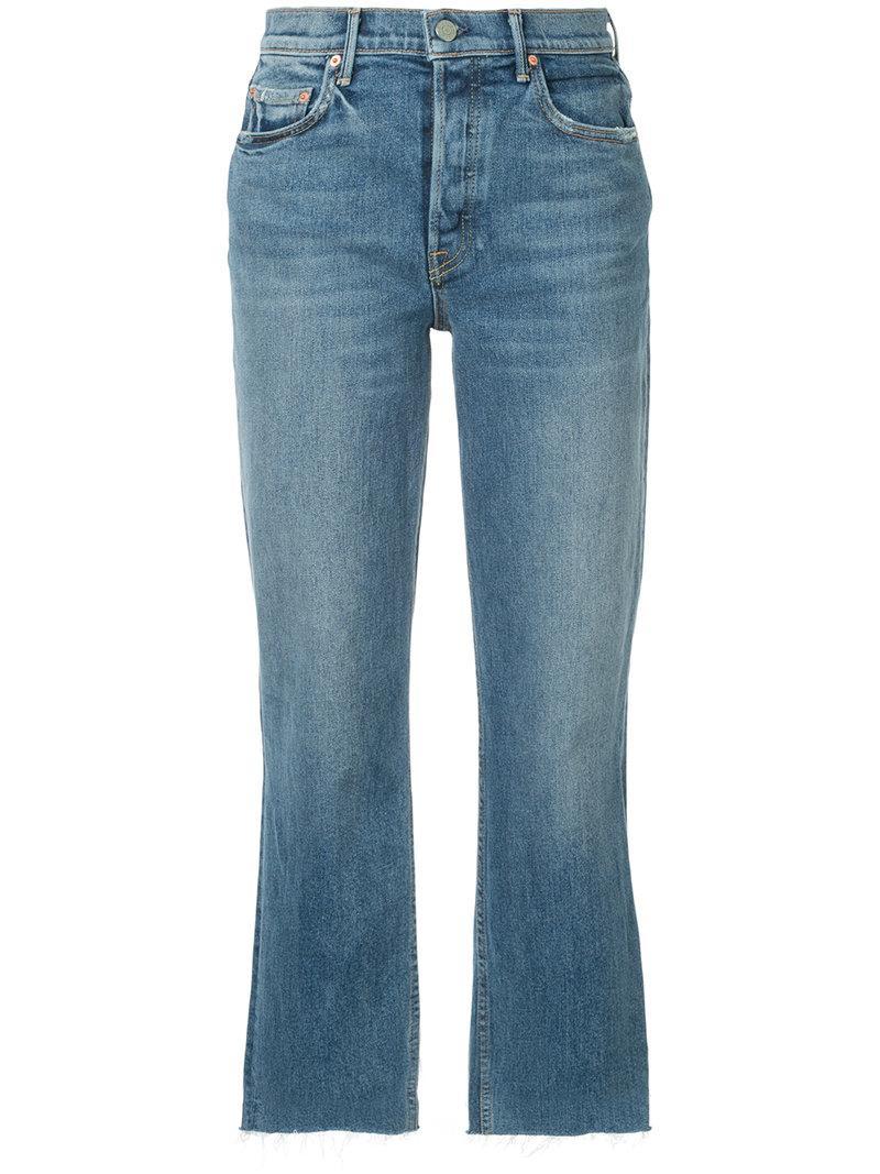 Grlfrnd Helena Straight Cropped Jeans