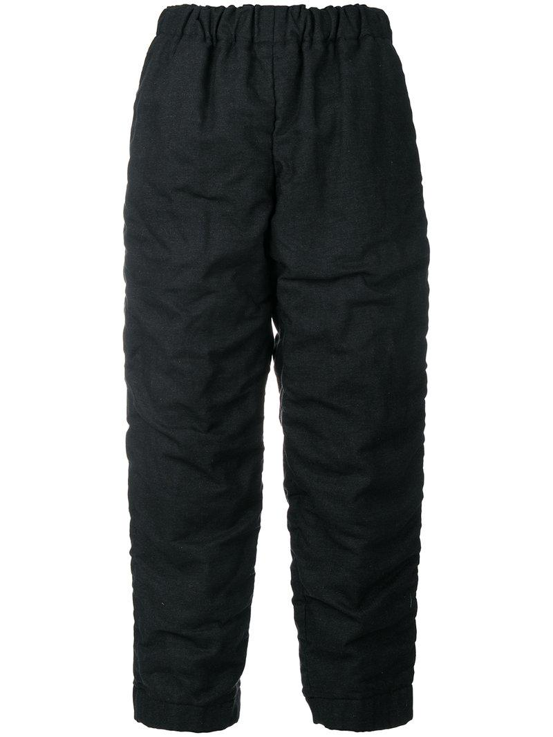 Comme Des GarÇons Ruched Cropped Trousers