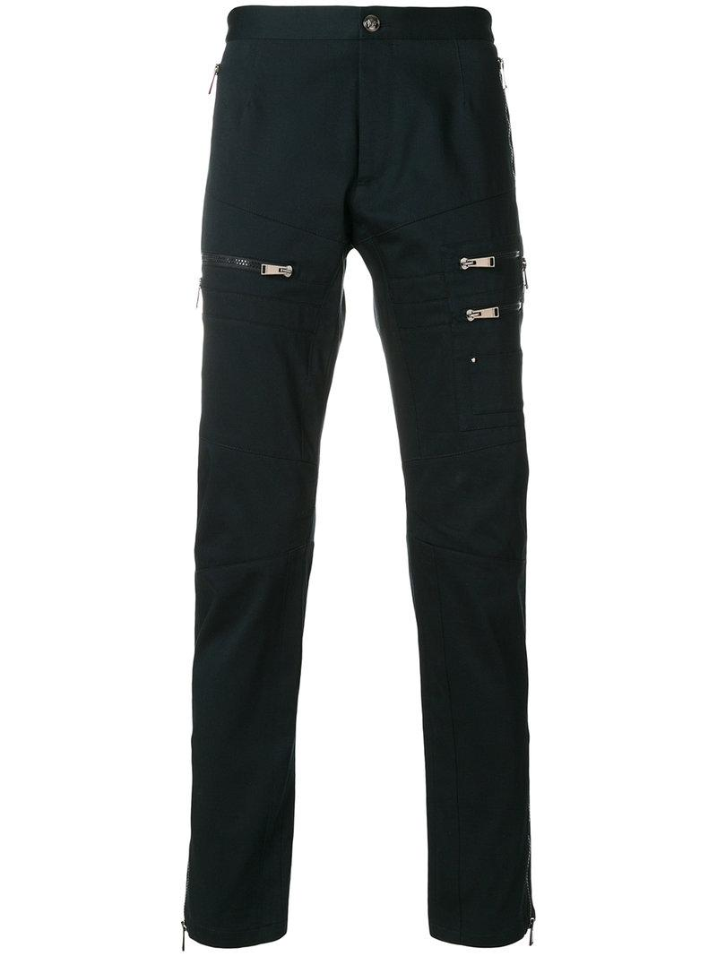 Versace Zipped Pockets Slim-fit Trousers