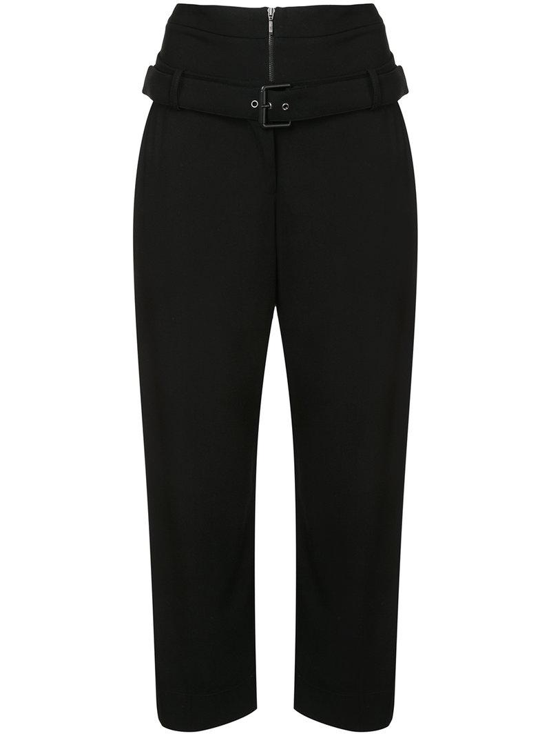 Osklen Double Waist Cropped Trousers In Black