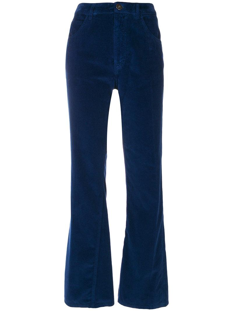 Prada Cropped Velvet Trousers