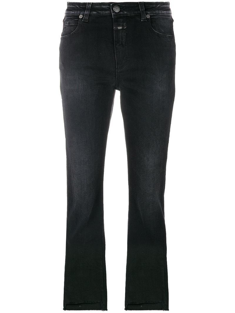 Closed Cropped Fitted Jeans - Black