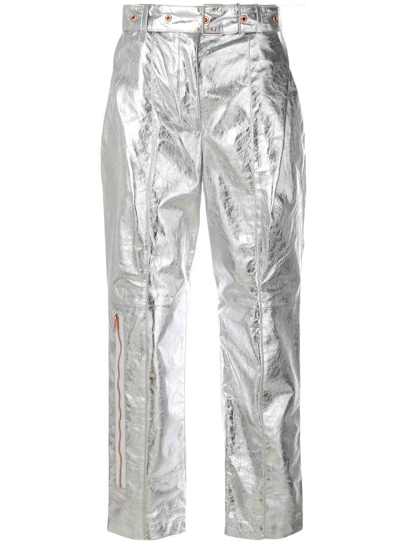 Proenza Schouler Metallic (grey) Trousers